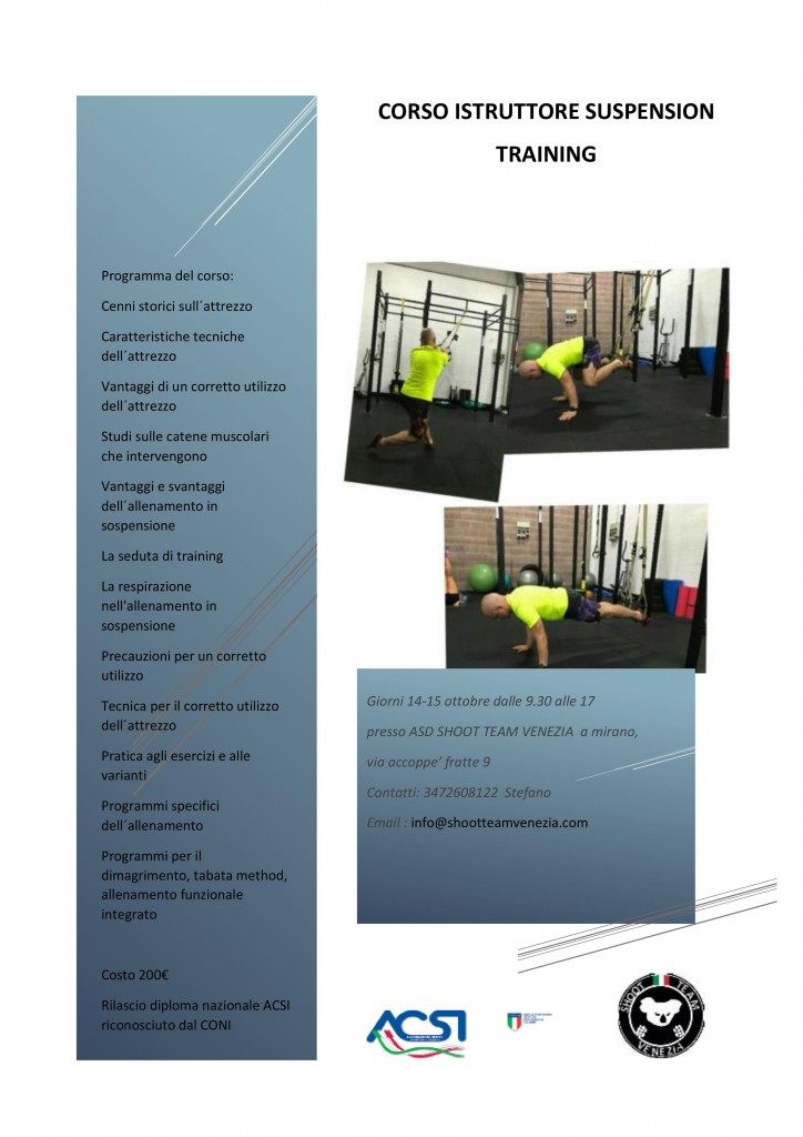 CSI Venezia Corso Suspension training